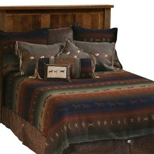 Wooded River Mustang Canyon King Bedspread